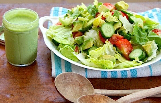 low fat basil green goddess dressing